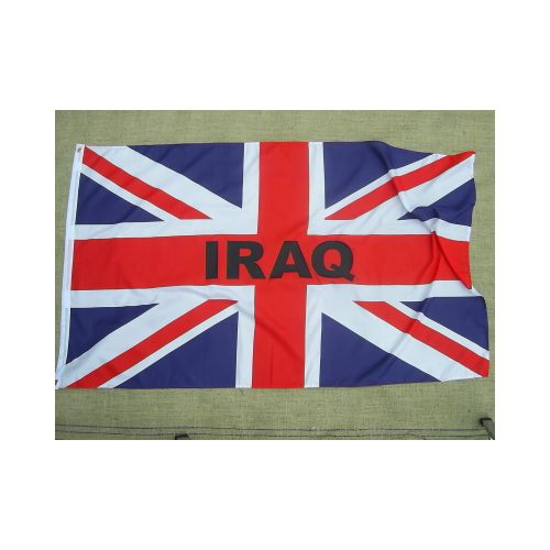 Union Jack Overprinted Iraq Flag - Relics Replica Weapons