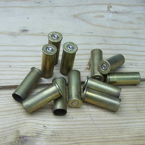 .44 MAGNUM FIRED BULLET CASES x12 - Relics Replica Weapons