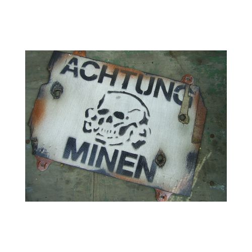 ACHTUNG MINEN Desert pattern MINE SIGN - Relics Replica Weapons