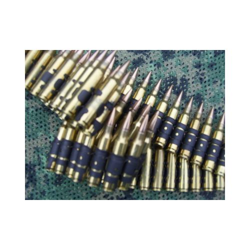 AMMO BELT 5.56 .223 CALIBRE M249 MINIMI  80 x LINKED  INERT BULLETS - Relics Weapons