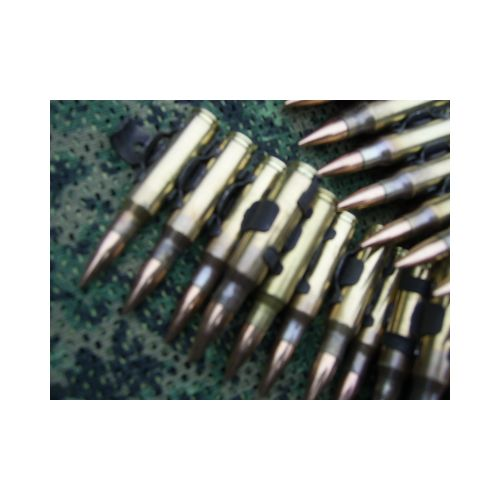 AMMUNITION BELT X 25 LINKED ROUNDS 7.62 NATO INERT - Relics Replica Weapons