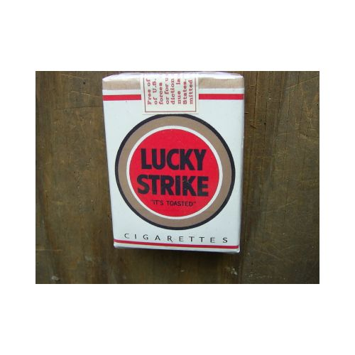LUCKY STRIKE CIGARETTES WW2 Wartime white DE-LUXE VERSION - Relics Weapons