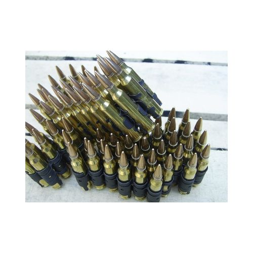 7.62 NATO INERT AMMUNITION BELT X 100 LINKED ROUNDS - Relics Weapons
