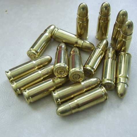 Holster Shells 12 x Genuine Inert Bullets for Denix Holsters - Relics Replica Weapons