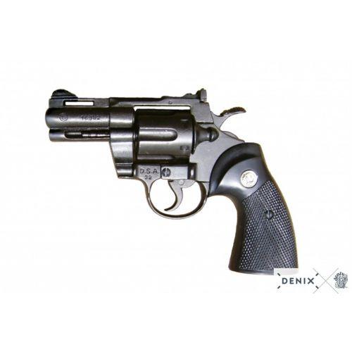 Colt Python .357 Magnum 2 inch snub metal Denix Replica Revolver - Relics Replica Weapons