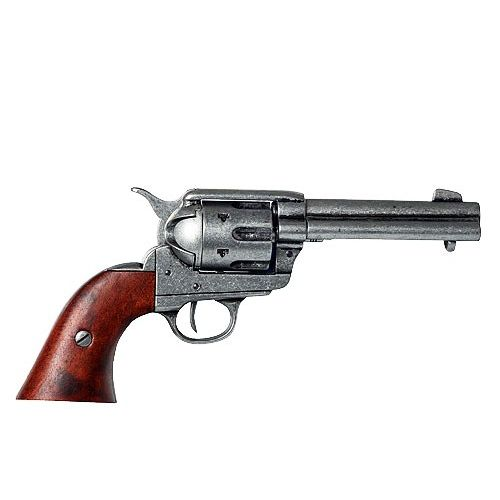 Colt Peacemaker single action Sixgun 4 .75 inch steel finish by Denix