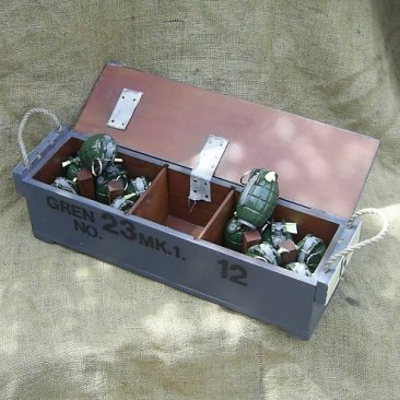 WW1 STYLE BRITISH ARMY GRENADE BOX - Relics Replica Weapons