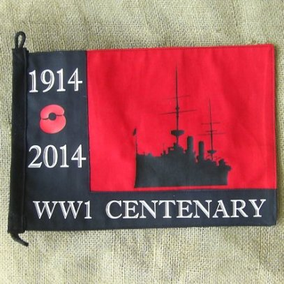 WORLD WAR ONE WW1 ROYAL NAVY REMEMBRANCE PENNANT - Relics Replica Weapons