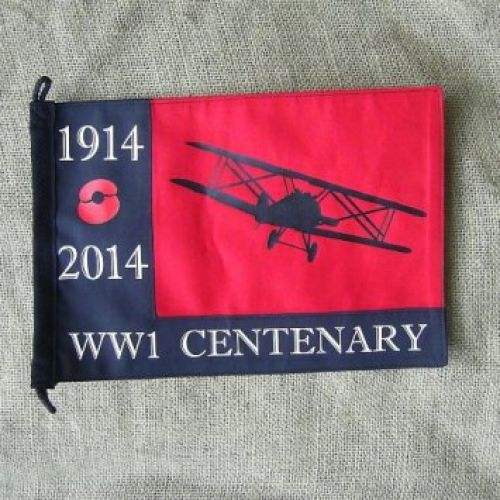 WORLD WAR ONE WW1 ROYAL FLYING CORP REMEMBRANCE PENNANT - Relics Replica Weapons