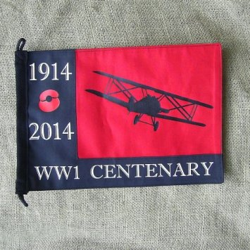 WORLD WAR ONE WW1 RFC ROYAL AIR FORCE REMEMBRANCE PENNANT - Relics Replica Weapons