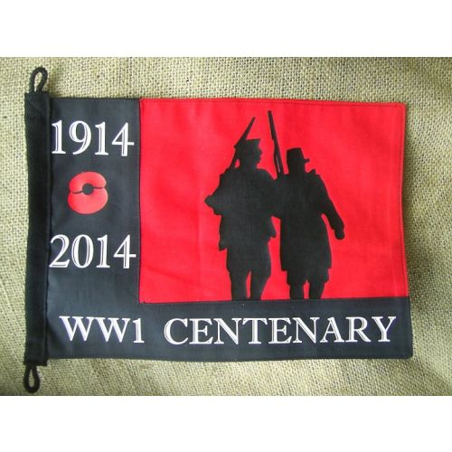 WORLD WAR ONE WW1 ARMY REMEMBRANCE POPPY PENNANT 11X 8 INCHES  - Relics Weapons