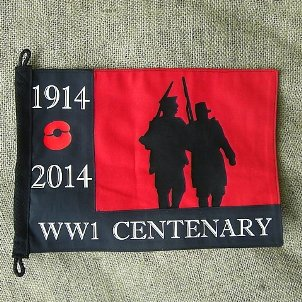 WORLD WAR ONE WW1 1914  - 2014 ARMY REMEMBRANCE PENNANT - Relics Replica Weapons